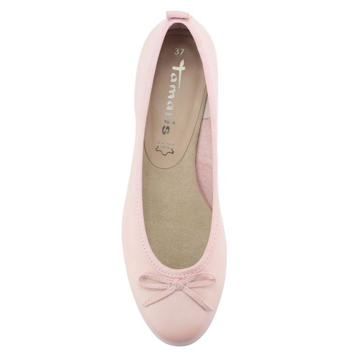 Rózsaszín Tamaris balerina cipő masni dísszel | ChiX.hu cipő webáruház - Rózsaszín Tamaris balerina cipő, orrán masni dísszel. Márka: Tamaris Szín: Rose Modellszám: 1-22122-24 521