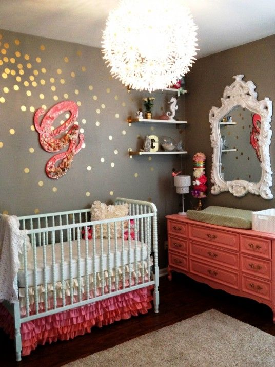 Elegant Baby Room Design... Uuummm, I want MY bedroom done in this color scheme.