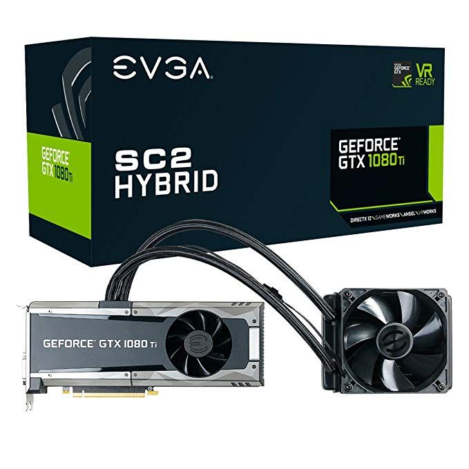 Evga Geforce Gtx 1080 Ti Sc2 Hybrid Gaming 11gb Gddr5x Icx Technology 9 Thermal Sensors Graphics Card 11g P4 6598 Kr Comp With Images Graphic Card Nvidia Hybrid Games