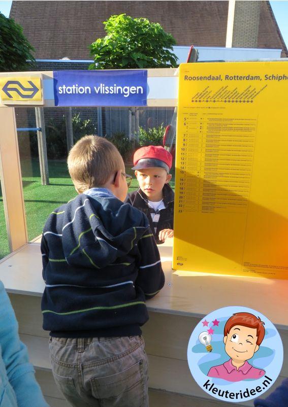 Rollenspel trein met kleuters, kleuteridee.nl, kijk voor beschrijvingen op de website 2