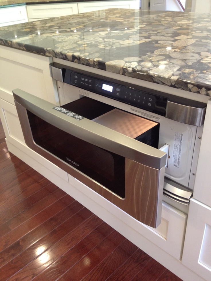 drawer microwave in kitchen island j hall homes inc pinterest