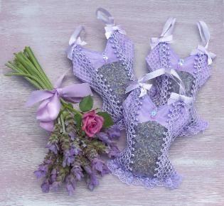 Lavender sachets by Lavender Fanatic-camisole sachet bags.
