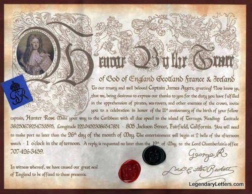 Small Pirates of the Caribbean Letter of Marque Reproduction Prop Replica on Etsy, $15.00