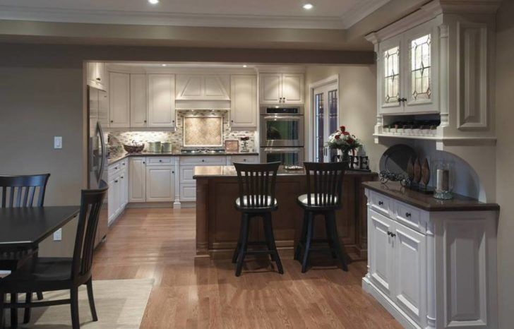 Kitchen:Open Concept Kitchen Ideas That Looks Beautiful For Your Home Simple Open Concept Kitchen Design Ideas With Nice Wooden Flooring
