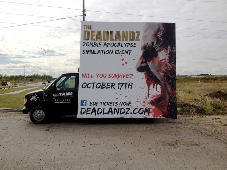 The Deadlandz Mobile Advan is sure to turn a few heads and get people to take interest in the upcoming event #outdooradvertising #mobilebillboard #alternativeadvertising #outofhomemarketing