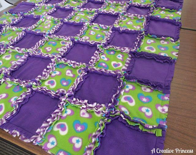 A Creative Princess: Fleece Rag Quilt
