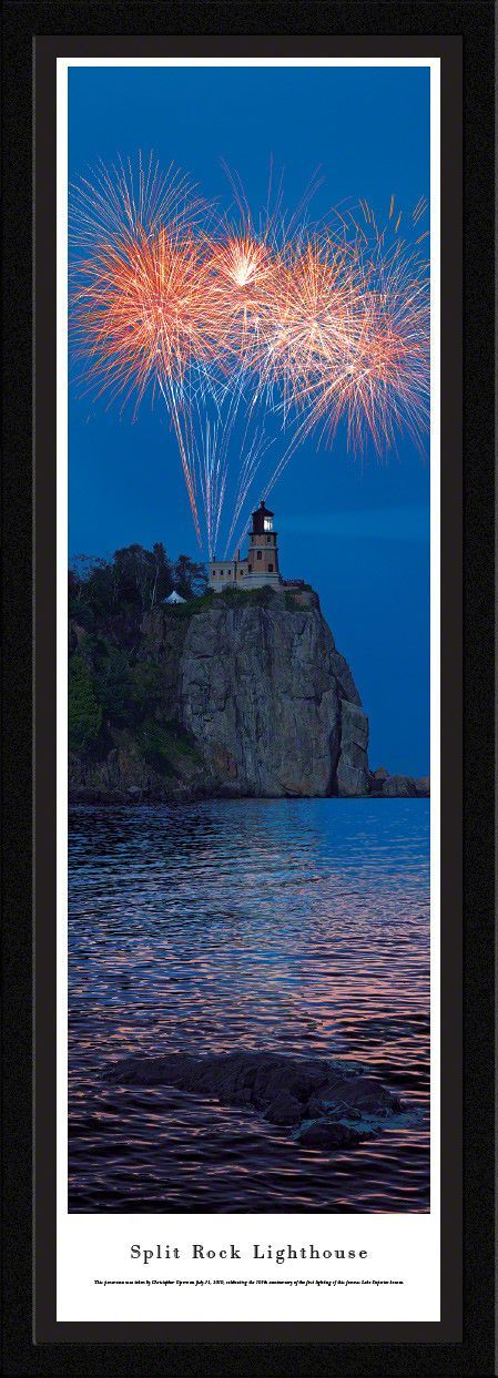 Split Rock Lighthouse Panoramic Picture - 100th Panoramic Picture Framed