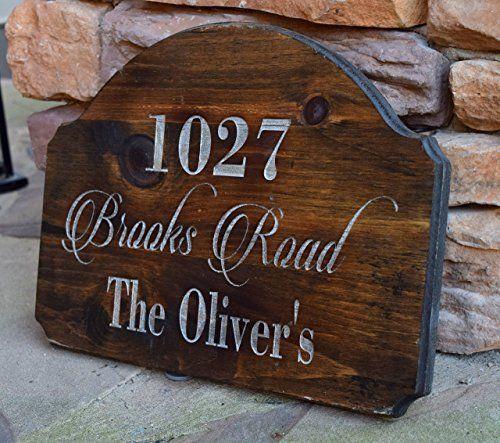 Address Sign Address Plaque Rustic Home Decor
