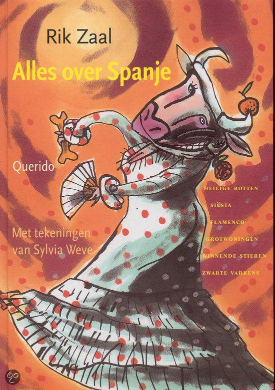 boek: 'Alles over Spanje'(9+) van Rik Zaal (2003). *** Alles over Spanje, een zonnig leesboek over alles wat dat land spannend maakt:Zijn stierengevechten echt zo eng?Wie vocht tegen windmolens?Waarom hebben Spaanse kinderen zo lang vakantie?Waar kun je met Kluivert op de foto?Zijn er in Spanje zwarte scholen?Waar is het hart van de heilige Teresa te zien?Waar is het Spaanse Wilde Westen?Wanneer ontdekte Columbus Spanje?