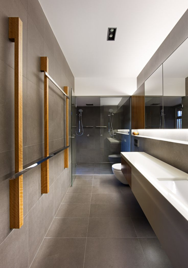 The 25 best long narrow bathroom ideas on pinterest for Long narrow office layout