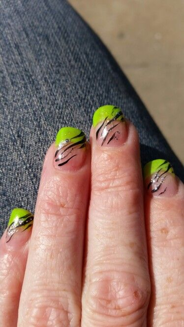 The 25 best lime green nails ideas on pinterest pretty nails lime green nail design prinsesfo Images