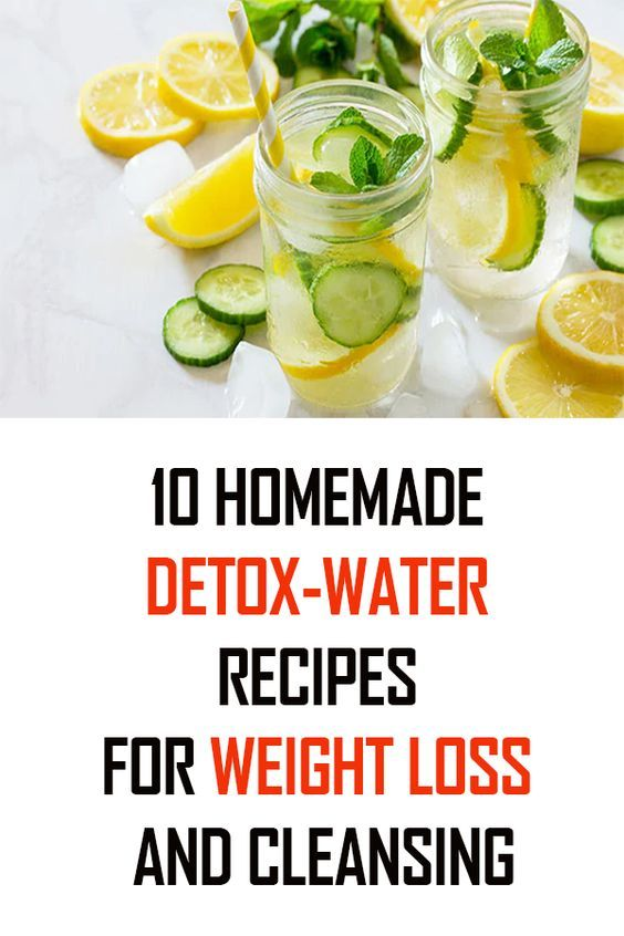 10 homemade detox-water recipes for weight loss and cleansing - YOUR HEALTH