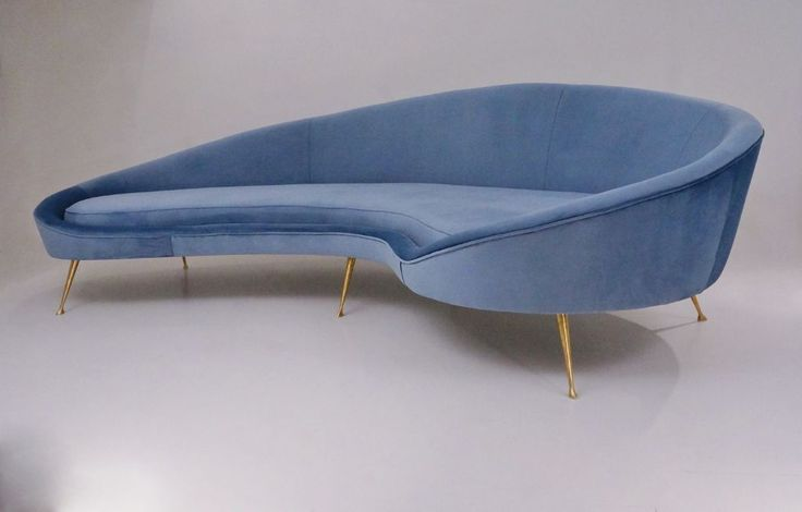 Ico Parisi sofa 1950`s style in new velvet upholstery, Italian | Notting Hill, London | Gumtree