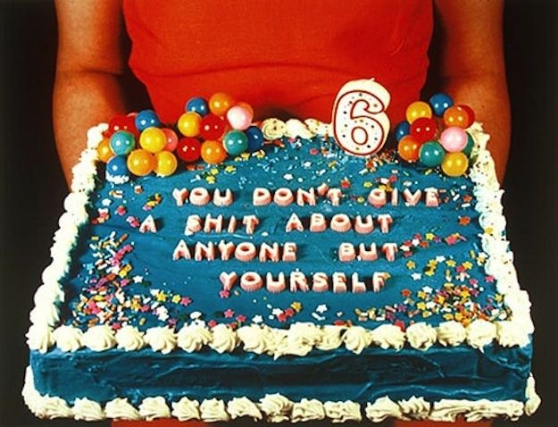 its not the message that made me laugh - its the point that this is a cake for a six year old.