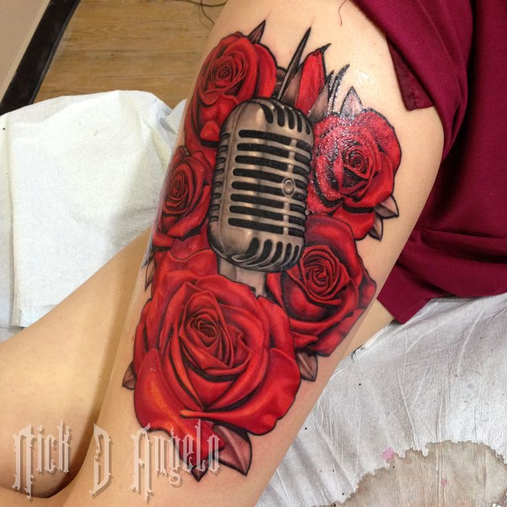 40 best mic tattoo images on pinterest mic tattoo for Rose tattoo song