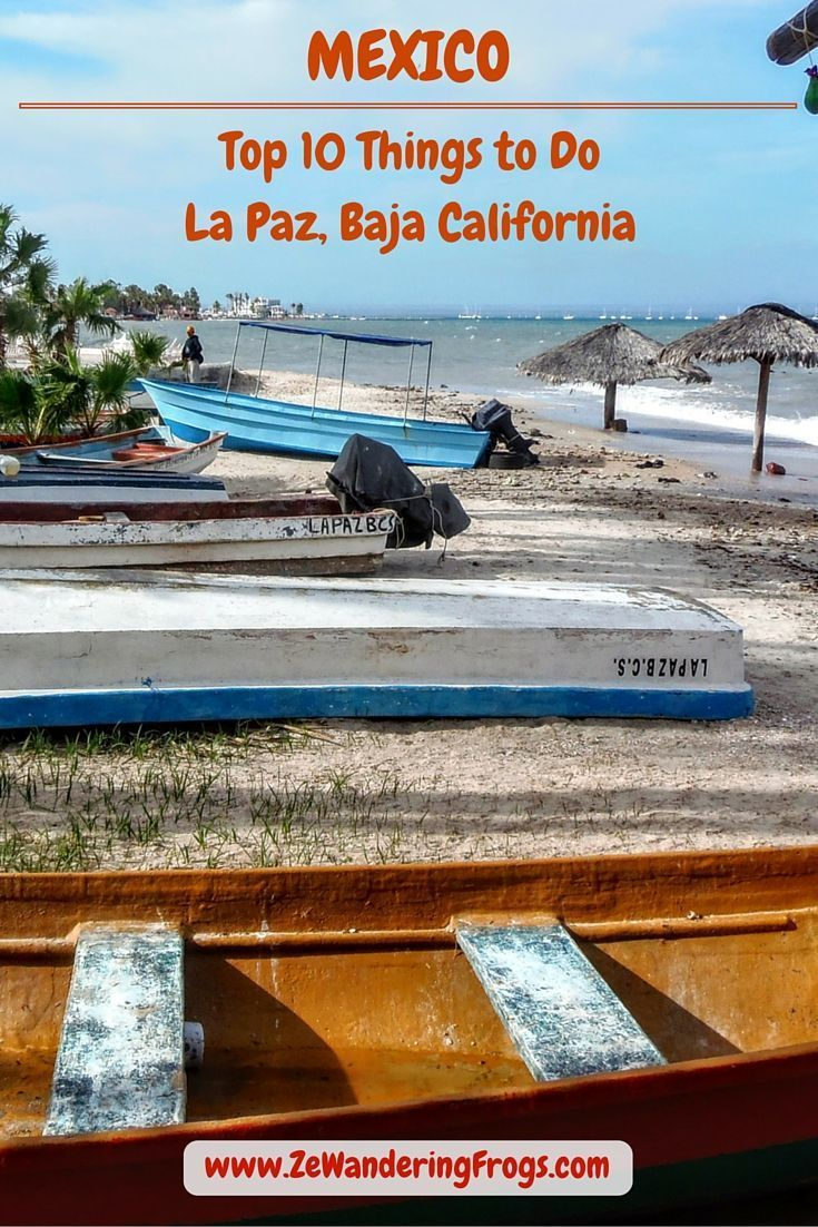 Top 10 Things to Do in La Paz Mexico // Less known than Cabo San Luca, this little gem is nestled on the Peninsula of Baja California Sur. Featuring a desert climate, La Paz offers a dry, warm and sunny weather most of the year. Situated at the end of an extension of the Sierra. For those interested in Mexican culture, but want to be away from the hustle of touristy Cabo, La Paz is the perfect