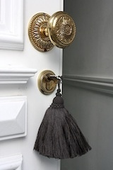 with a black tassel