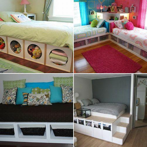 Which #DIY Under Bed Storage Idea? #organize #home #decor #shop