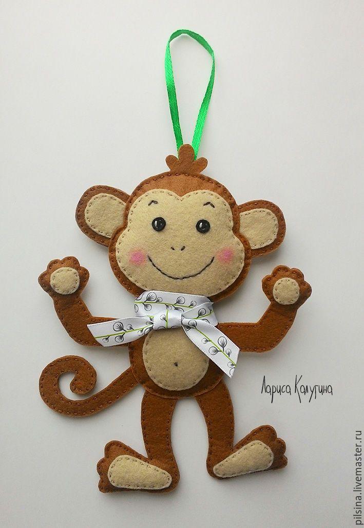 Новогодняя игрушка на елку обезьянка своими руками