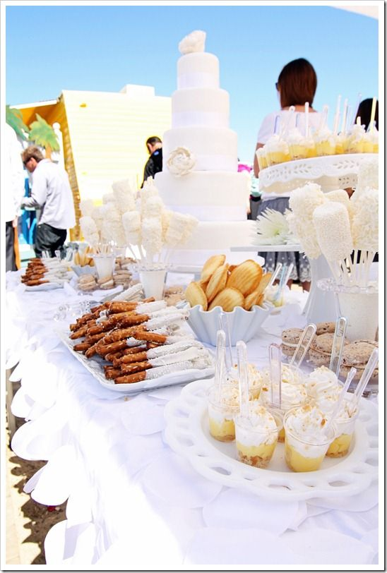 Superior Dessert And App Stations Are Places To Do Fun, Themed Table Linens, And  Play Into You Color Scheme By Selecting Foods In Your Wedding Colors!