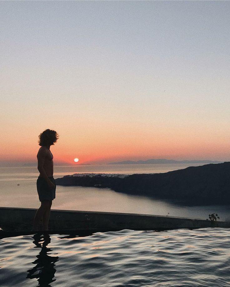 Silver ocean looking like clouds, Santorini Eye Love you.