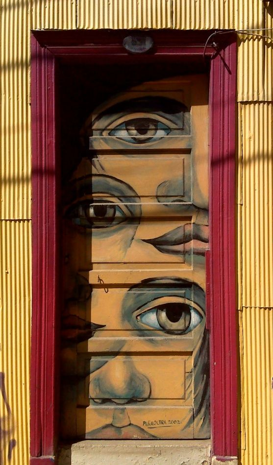 Doors of Valparaiso, Chile    What would happen if I.... stared at your door so long.... I saw you shut your eyes?.... What would happen if I.....?