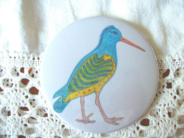 Wendy the Punk Oystercatcher - pocket mirror. £3.50