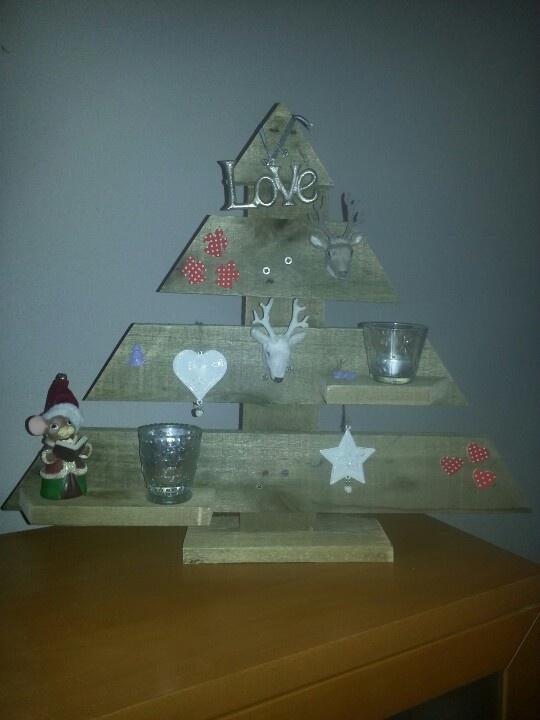 Kerstboom van pallet hout.