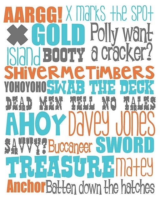 This makes me want to re-do my boys room in pirate theme!! I printed it off and will frame it for their wall.
