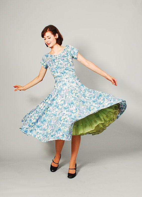 long sleeve 50s dress 3t
