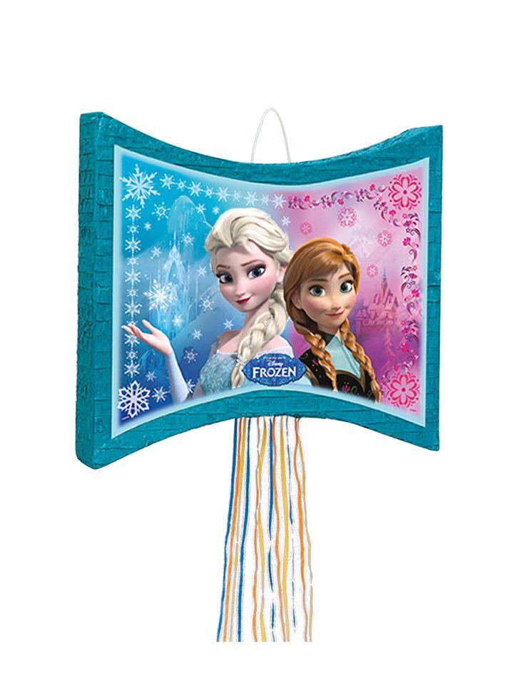Piñata de Frozen™: Esta piñata tiene licencia oficialFrozen™.Es de cartón y mide alrededor de 40 cm de alto y 46 cm de ancho.Es azul turquesa con las hermanas Elsa y Anna...