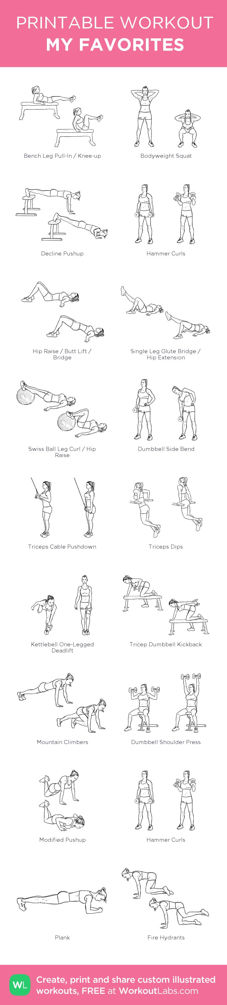 MY FAVORITES - WORKOUT LABS WORKOUTS:my custom printable workout by @WorkoutLabs #workoutlabs #customworkout