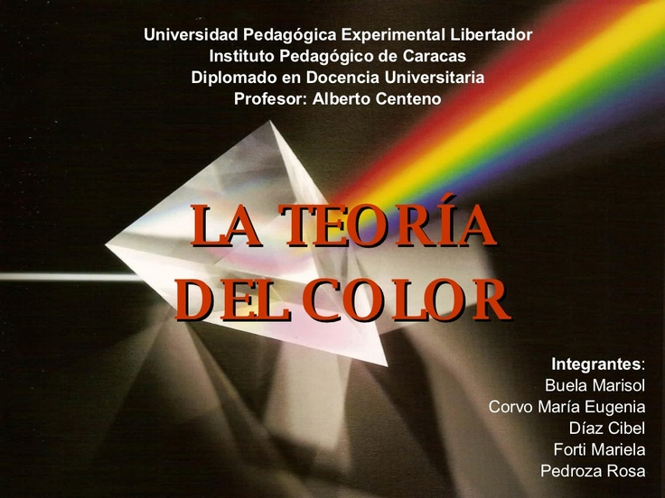 teoria-del-color by marisolbuela via Slideshare