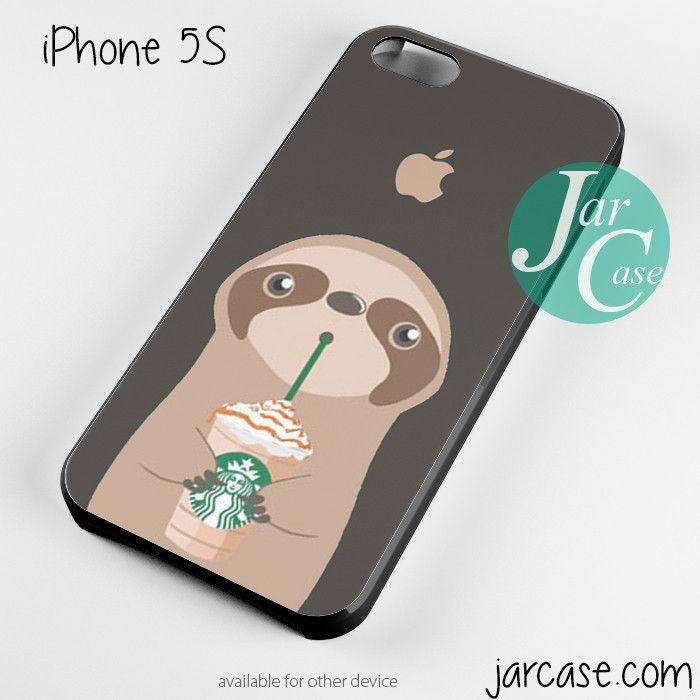 i love starbucks sloth Phone case for iPhone 4/4s/5/5c/5s/6/6 plus