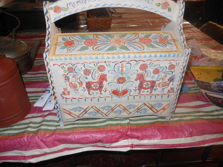 Swedish Sewing Box.