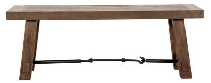 "Cara 50"" Industrial Dining Bench, Java - Benches - Living Room - Furniture 