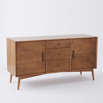 Maybe with my tax return I'll finally get myself a credenza! Mid-Century Media Console - Large (Acorn) #westelm