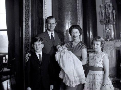 Prince Charles Princess anne | Queen Elizabeth II with the Duke of Edinburgh, Prince Charles, Andrew ...