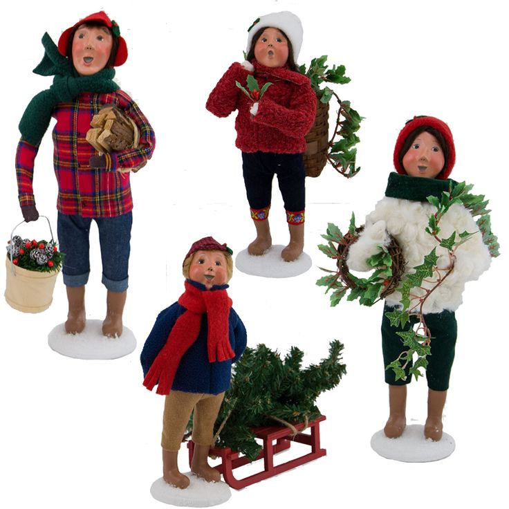 Set Of 4 Family Christmas Carolers: 16 Best Byers' Choice Carolers