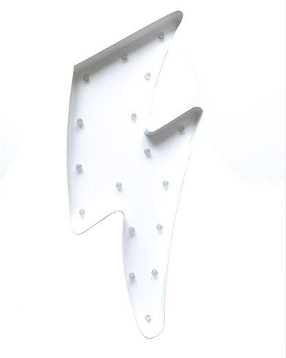 LED-lampa blixt vit