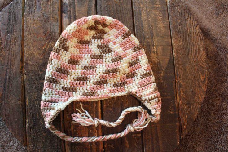 Crocheted earflap hat