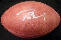 Tom Brady Autographed Super Bowl 38 Leather Football New England Patriots TriStar Stock