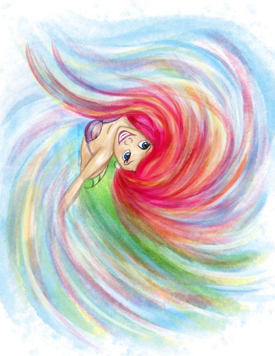 Tęczowa Ariel - Ubierz popularne postacie z bajek Disneya już teraz! http://www.ubieranki.eu/ubieranki.html