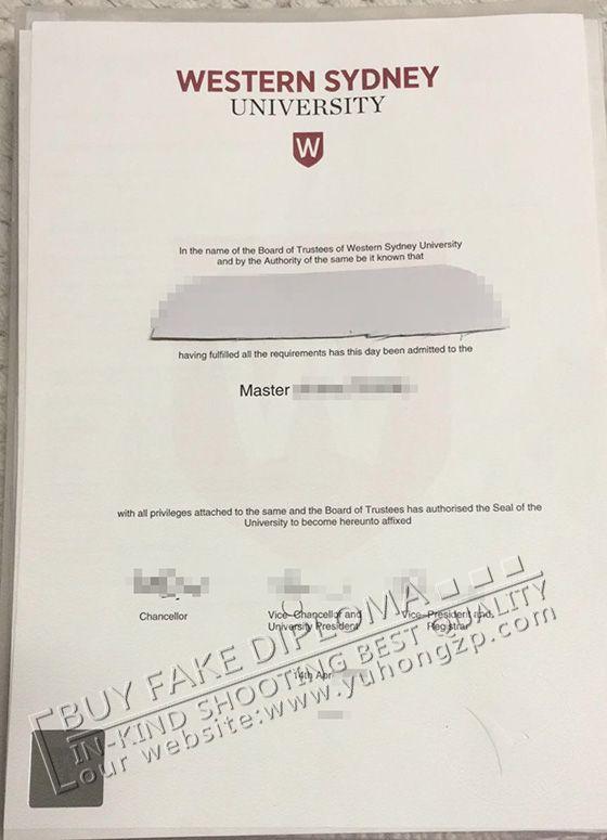 Western Sydney University degree certificate http://www.yuhongzp.com/ Skpye: taylor.kingspy Email: Yuhongzpservice@gmail.com QQ:344745250