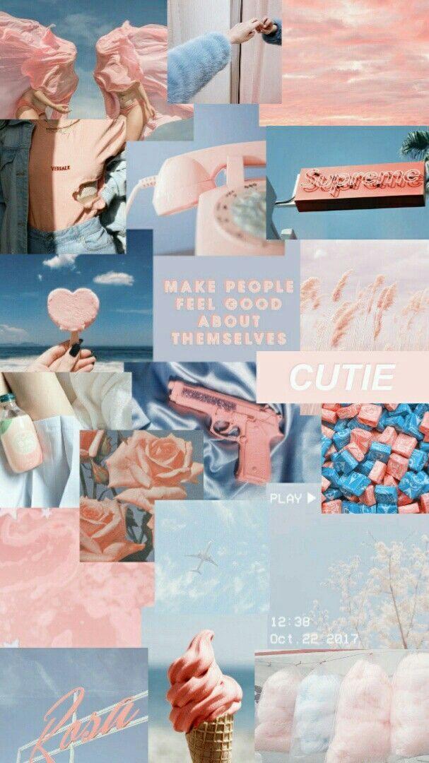 Blau Und Pink Asthetik Aesthetic Pastel Wallpaper