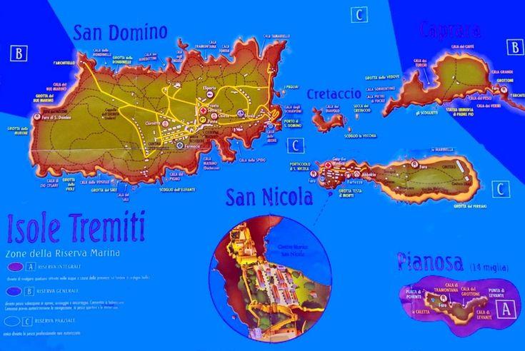 Isole Tremiti tourist map