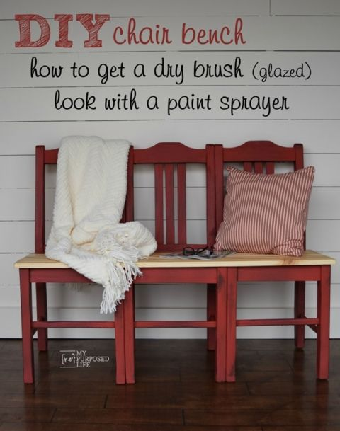 How to make a bench from three dumpster chairs. Easiest chair bench tutorial you will find.