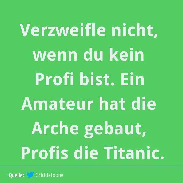don't be upset not being a profi- an amateur built noah's ark Lot of Profis the titanic....