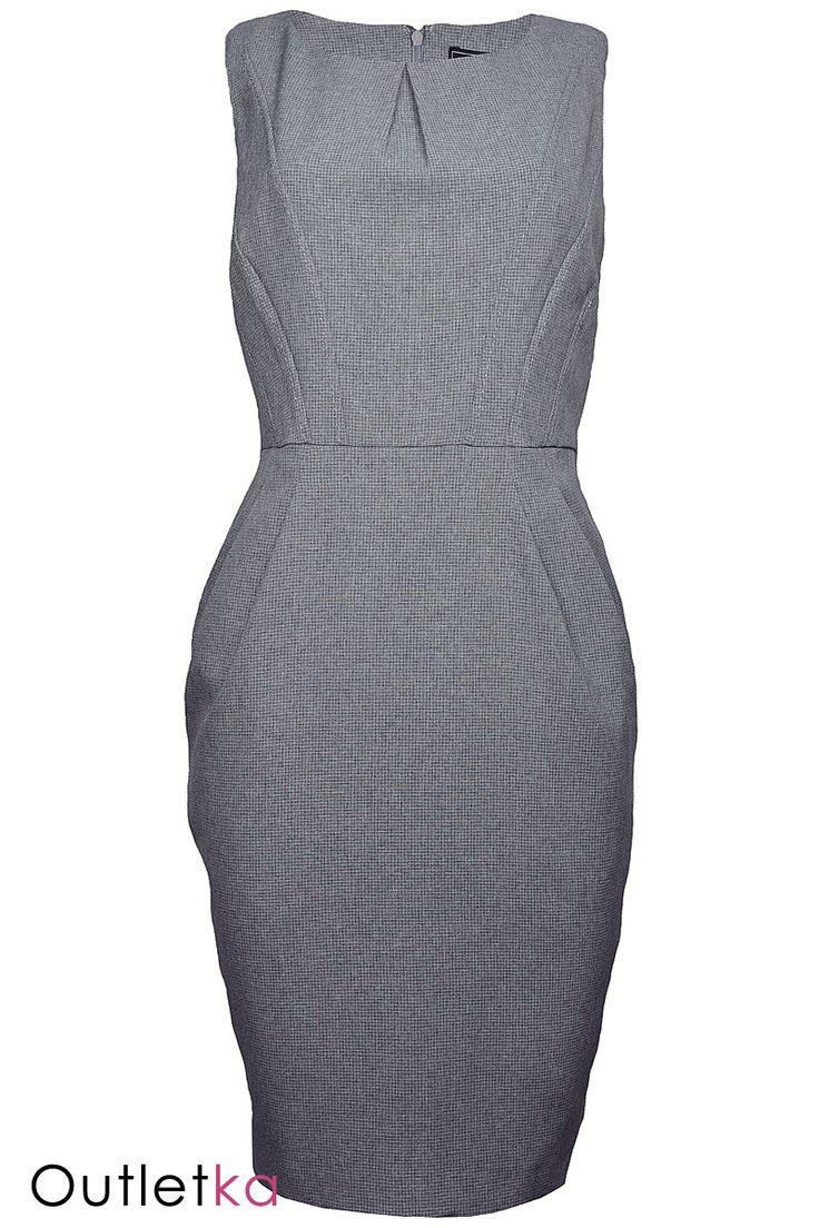 Nowa, elegancka sukienka firmy Nam&Co. Sukienka ołówkowa w odcieniu szarym, na krótki rękaw. W pasie lekko marszczona. Z tyłu zapinana na kryty zamek. Sukienka dopasowuje się do sylwetki. Jej fason sprawia, że jest niezwykle elegancka i kobieca. Uszyta na grafitowej podszewce. Z kompletem firmowych metek.