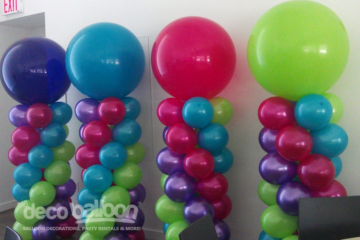 17 best images about balloons on pinterest flower for Balloon column decoration